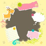Baby Arrival Card. Illustration of baby arrival card with copy space Stock Photo