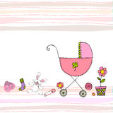 Baby arrival card Stock Images