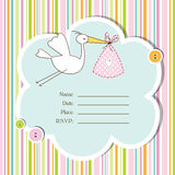 Baby arrival card - Baby shower card Royalty Free Stock Photo