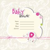 Baby arrival card - Baby shower card Stock Photo