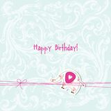 Baby arrival card - Baby shower card Stock Photography