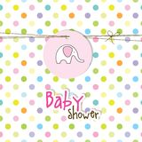 Baby arrival card - Baby shower card Royalty Free Stock Images