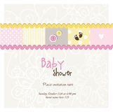 Baby arrival card - Baby shower card Stock Photos
