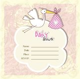 Baby arrival card - Baby shower card Royalty Free Stock Image