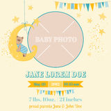 Baby Arrival Card - Bear Theme Royalty Free Stock Images