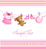 Baby arrival card Royalty Free Stock Photography