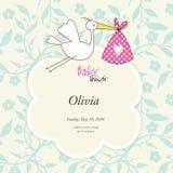 Baby arrival card Stock Photos