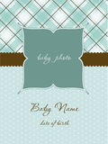 Baby Arrival Card with Frame Stock Images