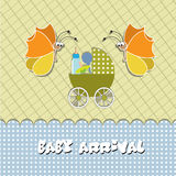 Baby arrival card Stock Photography