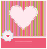 Baby Arrival Card with Photo Frame. The Baby Arrival Card with Photo Frame vector illustration