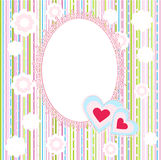 Baby Arrival Card with Photo Frame. The Baby Arrival Card with Photo Frame royalty free illustration