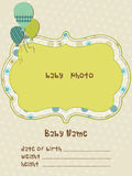 Baby Arrival Card with Photo Frame in  Royalty Free Stock Photo