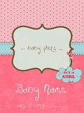 Baby Arrival Card with Photo Frame. In Stock Photos