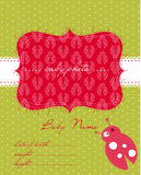 Baby Arrival Card with Photo Frame. Beautiful Baby Arrival Card with Photo Frame Stock Images