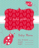 Baby Arrival Card with Photo Frame Stock Images