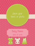 Baby Arrival Card with Photo Frame Stock Image