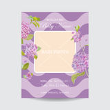 Baby Arrival Card with Photo Frame Stock Photo