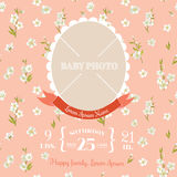 Baby Arrival Card - with Photo Frame Royalty Free Stock Photo