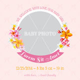 Baby Arrival Card Royalty Free Stock Photos
