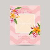 Baby Arrival Card with Photo Frame Stock Photos