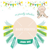 Baby Arrival Card Stock Photos