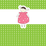 Baby arrival card for you. Vector illustration Stock Photography