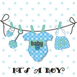 Baby arrival items. Baby arrival card as background, decorations and designs card Stock Photo