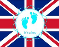 Baby arrival prince england Royalty Free Stock Photos
