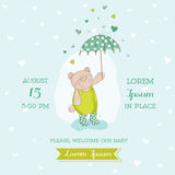 Baby Arrival or Shower Card Royalty Free Stock Images