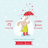 Baby Arrival or Shower Card Royalty Free Stock Image
