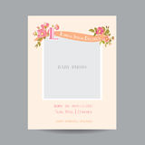 Baby Arrival or Shower Card Stock Photo