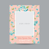 Baby Arrival or Shower Card Royalty Free Stock Photography