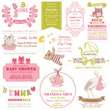 Baby Arrival and Shower Collection stock illustration