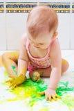 Baby artist stock photos