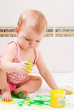 Baby artist stock images