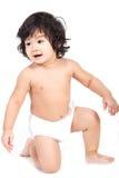Baby asian boy diaper Royalty Free Stock Image