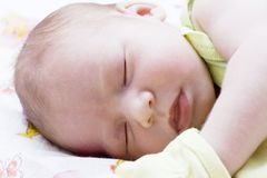 Baby asleep Stock Image