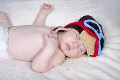 Baby asleep peacefully Stock Image