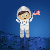 Baby astronaut. Cute illustration of baby astronaut vector illustration