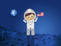 Baby astronaut. Illustration of baby astronaut to Mars royalty free illustration