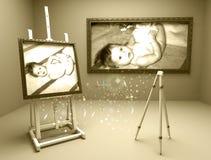 Baby in atelier 2 Stock Foto's