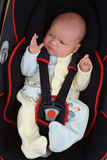 Baby in Auto Seat Royalty-vrije Stock Afbeelding