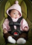 Baby in autozetel royalty-vrije stock afbeelding