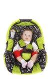 Baby in autozetel Stock Afbeelding