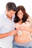 Baby Awaiting Couple Stock Photo