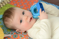 Baby awake Royalty Free Stock Photos