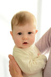 Baby awake Stock Photo