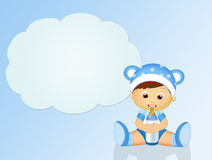 Baby with baby bottle. Illustration of baby with baby bottle stock illustration