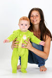 Baby and Babysitter Stock Photos