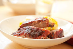 Baby back ribs Royalty Free Stock Photo